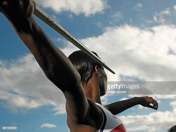 female javelin thrower - javelin stock pictures, royalty-free photos & images