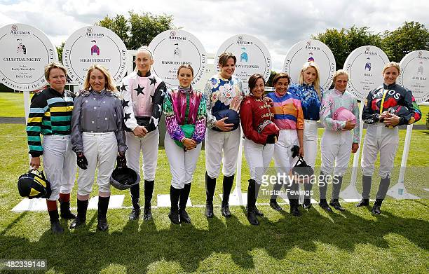 Female jockeys Dido Harding, Clare Salmon, Emily London, Camilla Henderson, Alexis Green, Victoria Gray, Shadi Halliwell, Leonora Smee, Isabelle...