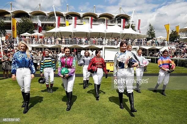 Female jockeys Leonora Smee Dido Harding Emily London Camilla Henderson Clare Salmon Victoria Gray Alexis Green Jemima Hannon Isabelle Taylor and...