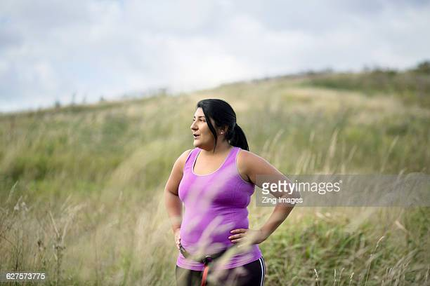 female jogger resting - heavy stock pictures, royalty-free photos & images