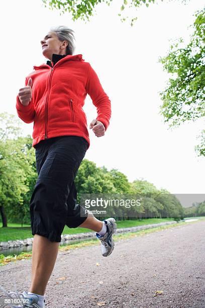 A female jogger Stockholm Sweden.