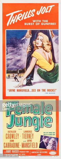Female Jungle poster US poster art Kathleen Crowley 1955