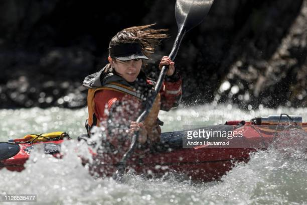 Female kayaker in Chilean Patagonia