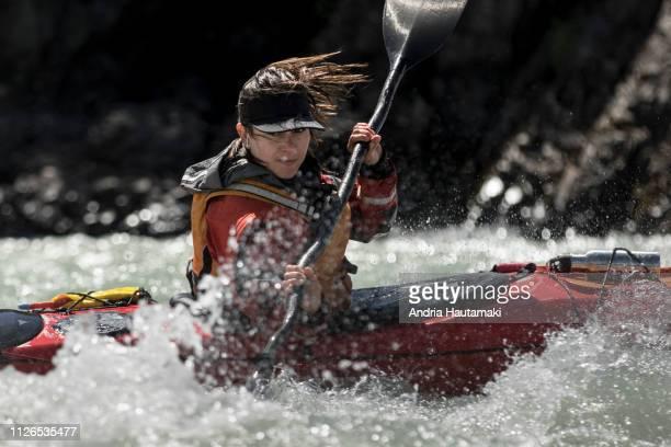 Female kayaker in Chilean Patagonia