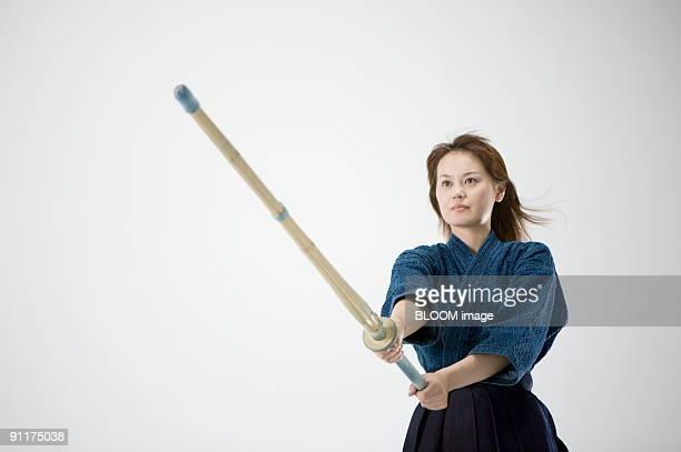 Female kendo player