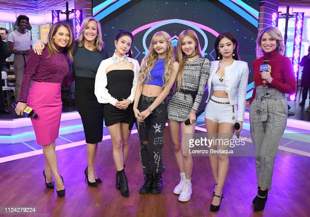 Female KPop sensation Black Pink perform live on Good Morning America Tuesday Feb 12 airing on the Walt Disney Television via Getty Images Television...