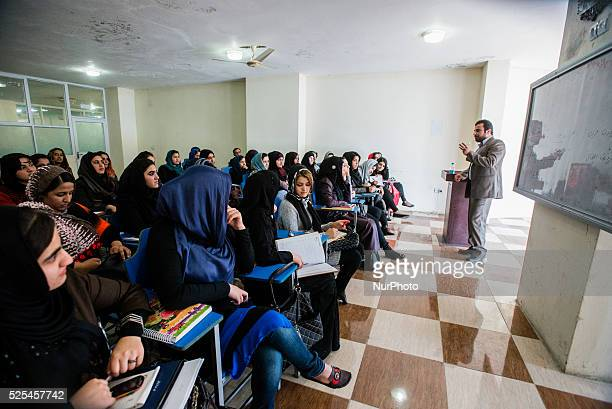 Female law class in Mashal institute of higher education Kabul Afghanistan Since 2002 the end of Taliban era in Afghanistan number of female students...