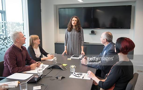 Female leader in modern office