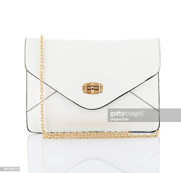 female leather bag - gold purse stock pictures, royalty-free photos & images