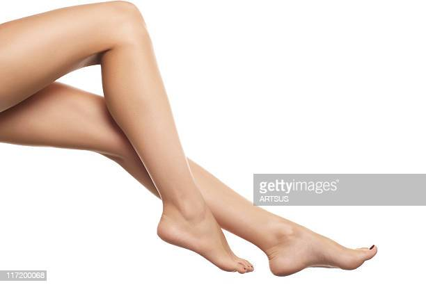 female legs - beautiful female feet stock photos and pictures