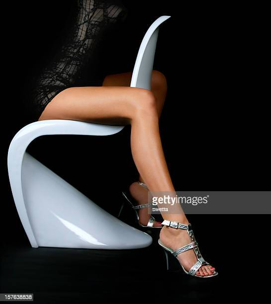 female legs - beautiful legs in high heels stock photos and pictures