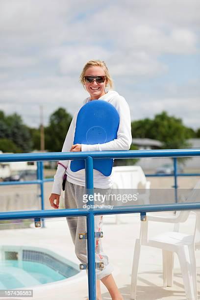 Femme maître-nageur sauveteur