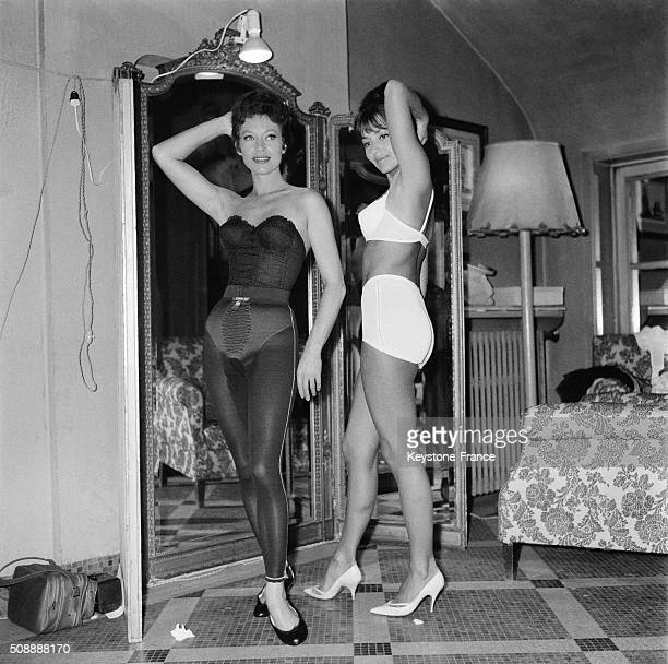 Female Lingerie Festival in Paris France on October 12 1962