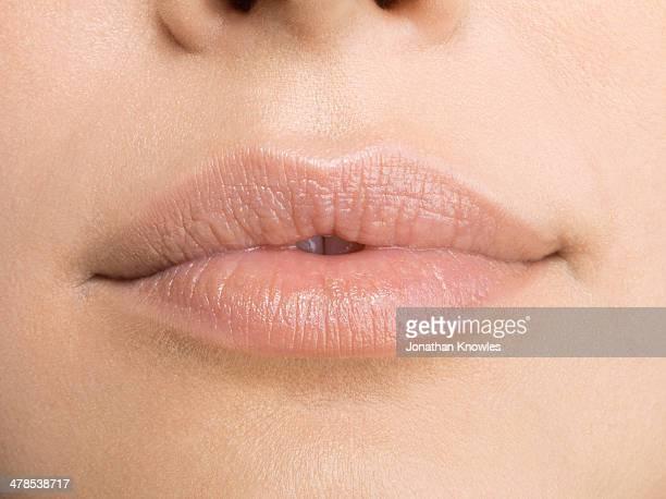 Female lips, natural, close up