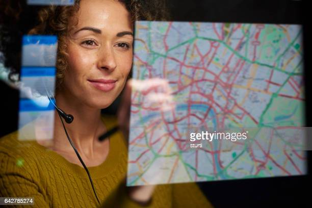 female logistics operator