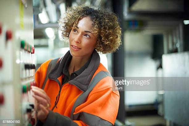 female maintenance engineer