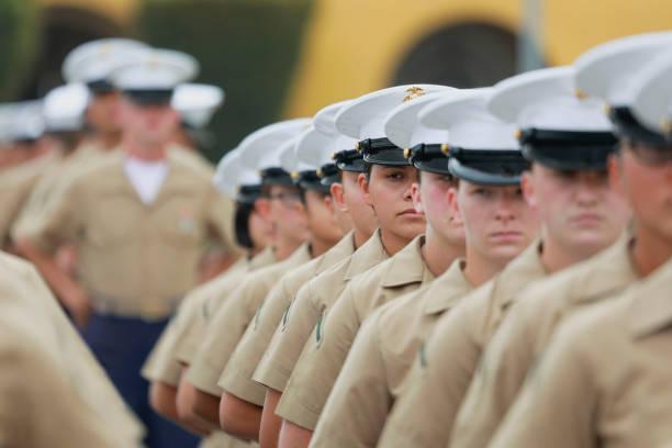 CA: Female Class Of Marines Graduates From Camp Pendleton Training