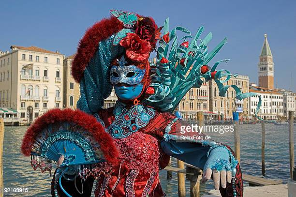 Female mask with colorful costume at carnival in Venice (XXL)