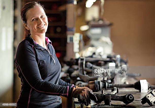 female mechanic at workshop