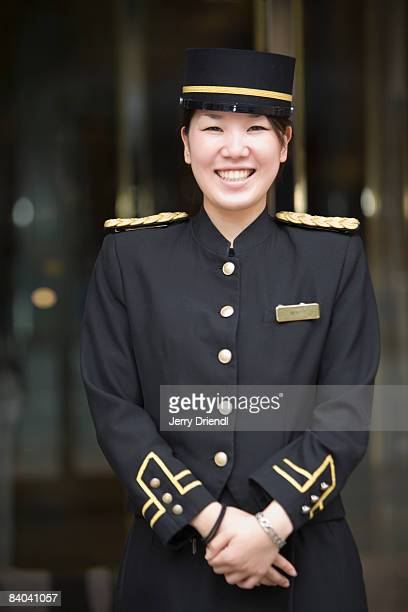 A female member of hotel's bell staff