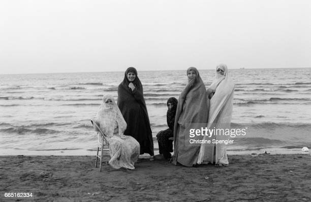 Female members of Iran's Crusade for Reconstruction the political counterpart of the Guardians of the Revolution created in the aim of assisting the...