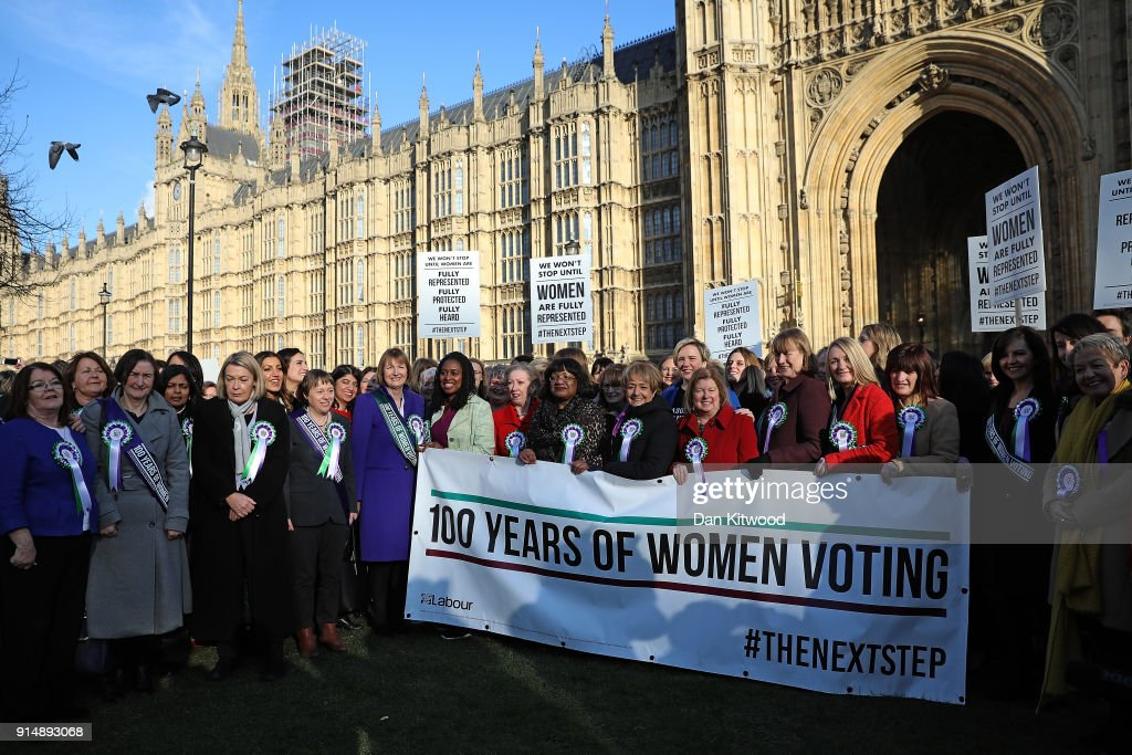 The Labour Party Commemorate The Centenary Of Women's Suffrage