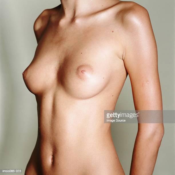 female midriff - nackte frau brüste stock-fotos und bilder