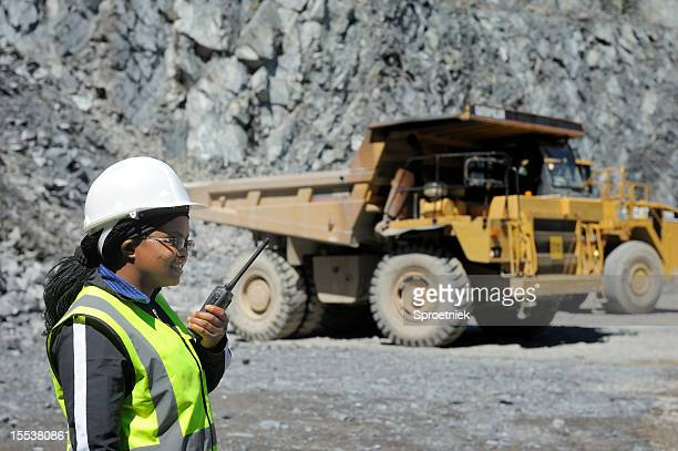 Female mine official oversees work