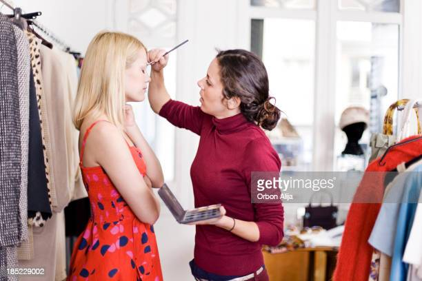 female model being made-up - fashion show stock pictures, royalty-free photos & images