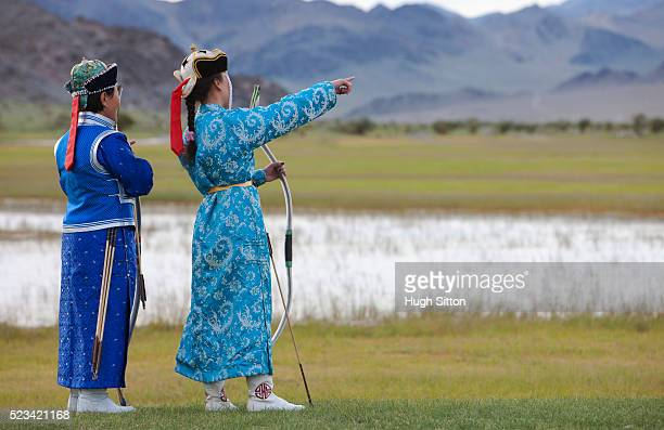 Female Mongolian archers