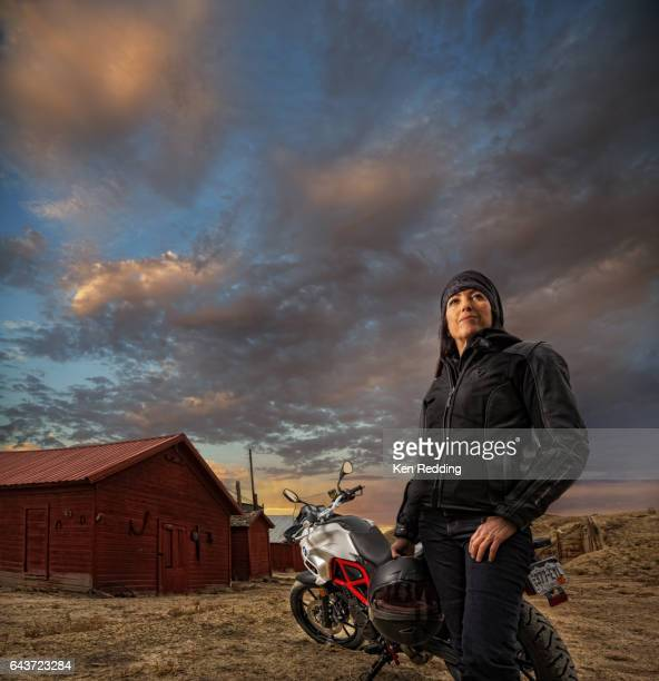 Female Motorcyclist