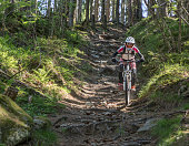 http://www.istockphoto.com/photo/female-mountainbiker-on-the-trail-of-thousand-roots-austria-gm840223640-136904809