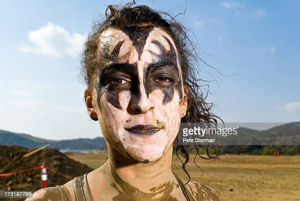 Female Mud Run competitor with 'Kiss' make(18-25)