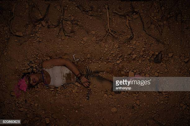CSI female murder victim buried