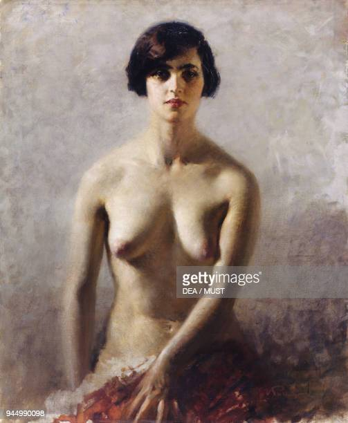 Female nude by Palanti oil on canvas 110x90 cm Italy 20th century