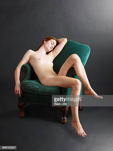 Female Nude in Chair Studio