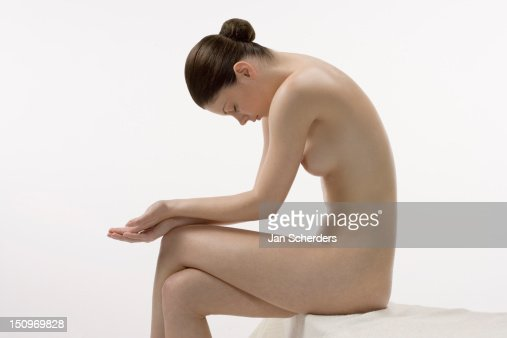 Female Nude In Sitting Position Stock Photo - Getty Images-5133