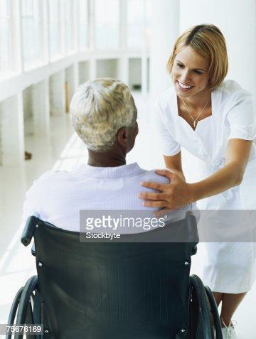 Best option for talking to a hostile patient nurse