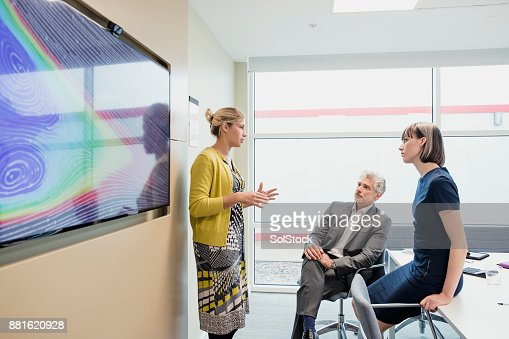 Female Office Worker Leading a Meeting