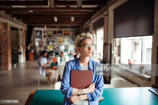 female office worker - northern european stock pictures, royalty-free photos & images