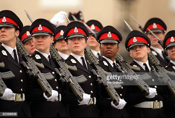 Female Officer Cadets At The Sovereigns Parade At Sandhurst