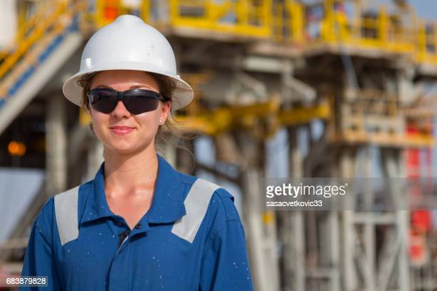 female oil engineer - iraqi woman stock photos and pictures