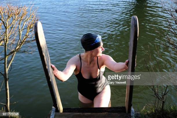 Female open water swimmer