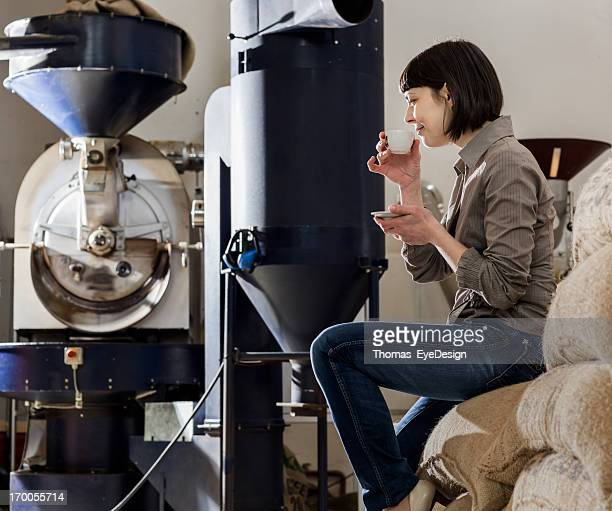 Female Owner of a Coffee Roasterie