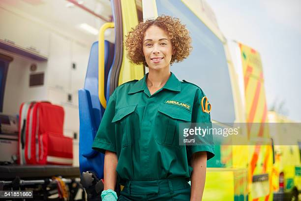 female paramedic portrait