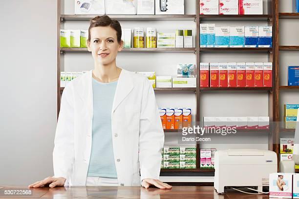 Female Pharmacist, Portrait, Munich, Bavaria, Germany