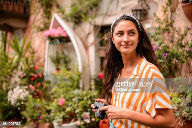 female photographer. - stresa stock pictures, royalty-free photos & images