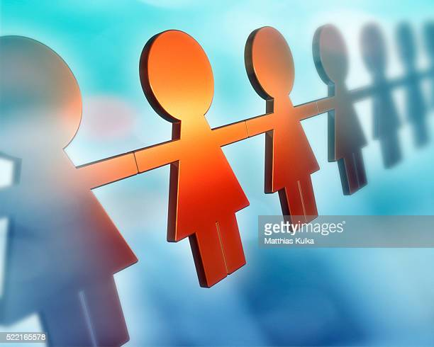 Female Pictographs Holding Hands