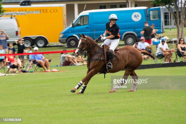 female player at a polo match - ogphoto stock pictures, royalty-free photos & images