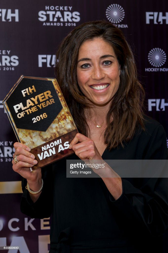 Female Player of the Year Naomi Van As of Netherlands poses for a picture during the FIH Hockey Stars Awards 2016 at Lalit Hotel on February 23 2017..